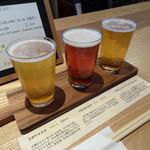 利き酒処 336 - 2016.11 利きビールセット(1,000円)(左からケルシュ・アルト・IPA)