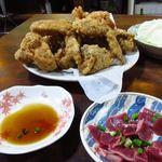 鳥安 - 料理写真:ズリ、から揚げをポン酢で頂く♪