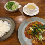 Yuzu - 料理写真:夜の日替わり+サラダ、スープ付
