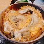 手打蕎麦うどん隆 - 広島産カキ玉丼