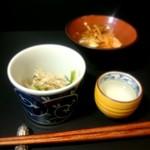 味農家 - 料理写真:お浸しと酢の物