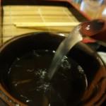 松美家 - 蕎麦湯はナチュラル