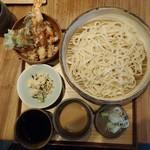 うどん山長 - 海老と鰆西京漬けの天丼定食1,100円