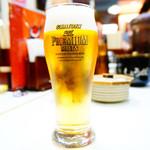 博多 一幸舎 - ドリンク写真:おつまみセットのグラスビール