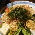 田なか屋 - 蓮根豆腐サラダ