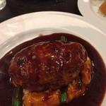 ビストロ石川亭 - 豚牛キャベツのハンバーグ デミグラスソース