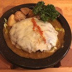 つばめグリル - 特製カレーソースのチーズハンブルグステーキ