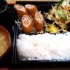 おがさや - 料理写真:日替りメニュー 690円 (ロールトンカツ&野菜炒め)