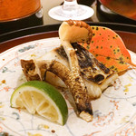 日本料理 太月 - さわらと松茸