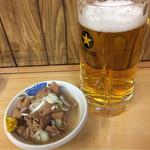 いづみや - 煮込み170円&生ビール中600円