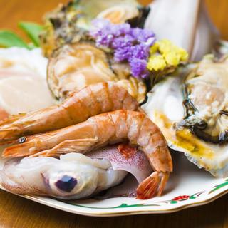 新鮮な魚介類も豊富!