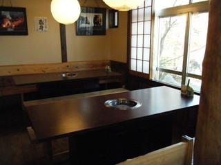 阿蘇のあか牛料理専門店 農家れすとらん 田子山 - 以前は座敷でしたがテーブル席になったようです