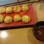 えき亭 - 明石焼+コーラ(ドリンク)セット700円