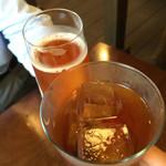 59296386 - リンゴのスパークワインとウーロン茶で乾杯です♪