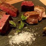 59298863 - 広島産なかやま牛のイチボ など肉祭り