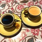 パリワール - インドコーヒーモンスーン と ジンジャーチャイ