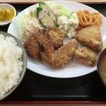 やまと屋米食堂 - 大ちゃん最強からあげ定食(大盛)
