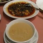 唐人飯店 - 麻婆豆腐とふかのひれスープ