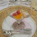 伊勢山ヒルズ - 結婚披露宴 @伊勢山ヒルズ ヴェネチア グランデ ハモン セラーノ と フレッシュリコッタチーズのムース 爽やかなオレンジ と 胡麻のグリッシーニ添え