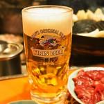 さっぽろジンギスカン - 生ビール