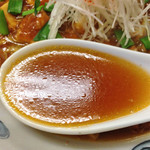 五十番 - 「麻婆きのこ担々麺」900円(スープ)