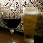 バルマル・エスパーニャ - ハウスワインとハイネケン