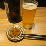 中国料理 麟 - お通しはザーサイ