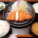 とんかつ和幸 - ロースかつ御飯 1188円 ご飯・味噌汁・キャベツがお代わり自由!
