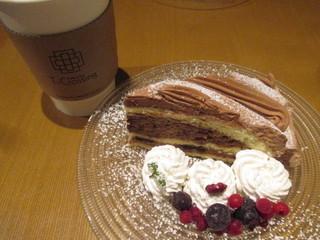 ティークロッシング  エチカフィット永田町店 - コーヒーとチョコレートケーキ