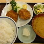 三忠食堂 - メンチカツ定食 760円
