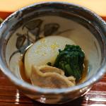和食 こんどう - 玄助大根と鴨、春菊の炊き合せ