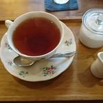 畠瀬本店食品部 - 紅茶:週替わりランチセット(ハヤシオムライス)(ランチパスポートver)