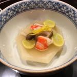 59311222 - 炊合せ かぶら蒸し 柚子の香り最高、銀杏も美味しい 柚子もさっき刻んでました(^^)♡