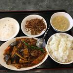 食神 餃子王 - 11番 麻婆ナス定食