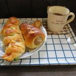 ブーランジェリー アボンリー - 天然酵母のエピ、マロンのコロネ&コーヒー