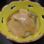 うえ村 - 自家製胡麻ドレッシングの大根サラダ