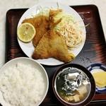 清水屋食堂 - 料理写真:アジフライ定食600円