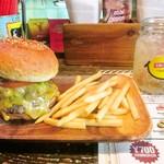 ジャミジャミ - ダブルチーズバーガー ドリンクセット