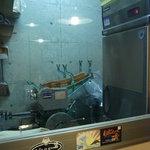 麺楽屋 - 毎朝使っている製麺スペース