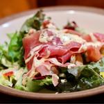 メリメロ亭 - スペイン産生ハム&きのこサラダ