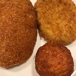 松丈 - 料理写真:コロッケ&メンチカツ&チキンボール