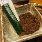 ごろう - きゅうりスティック(肉味噌付き)