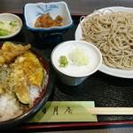 そば処 三日月庵 - ミニ天丼セット蕎麦大盛り +150円