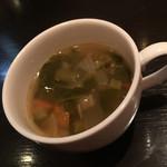 59333264 - 100円プラスで有機野菜のスープ。ミネストローネみたいでした。