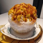 59336708 - ・安納芋とかぼちゃのクリーム カラメルソース仕立て 1300円 (10月限定)