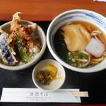 浪花そば - Aセット きつねうどん+ミニ野菜天丼