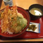 天丼専門店 てんき - 天丼ごはん大盛り 2016年11月