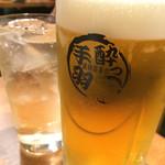 ちょい飲み酒場 酔っ手羽食堂 - サッポロ生中ビール380円