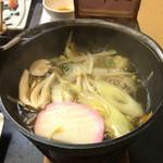 59341871 - 【夕食】                         かのしのしゃぶしゃぶ鍋。