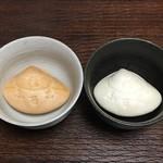 武蔵屋総本店 - 料理写真:蛤志るこ(あずき・抹茶)